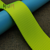 Bead Pattern Ture Nylon Webbing in Neon Green for Dog Collar