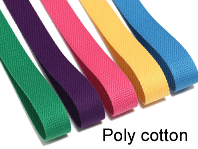 poly cotton webbing