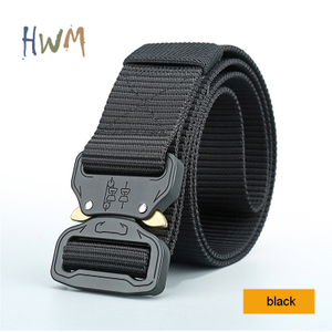Military Training Belt with Cobra Buckle