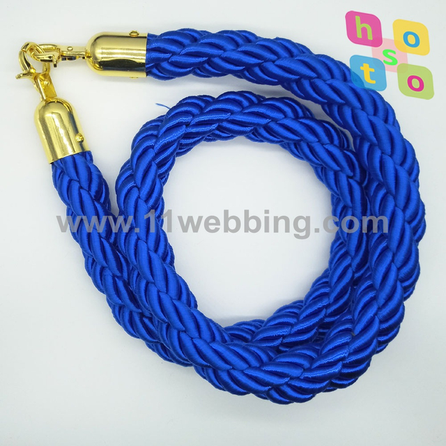 Twisted Rope for Queue Post Stanchion